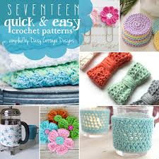 Quick And Easy Crochet Patterns Extraordinary 48 Quick And Easy Free Crochet Patterns Daisy Cottage Designs