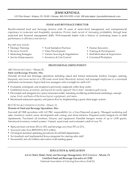 FB Manager Resume Sample food and beverage manager resumes Enderrealtyparkco 1