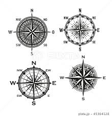 Rose Of Winds Arrows Vector Nautical Compassのイラスト素材