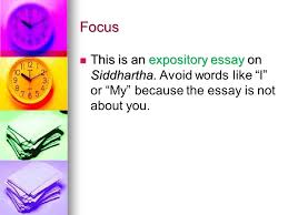 final tips on your literary essay ppt video online  focus this is an expository essay on siddhartha