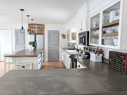 as part of our kitchen renovation i took on a project i ve been seeing all over the internet diy concrete overlay countertops it was super affordable