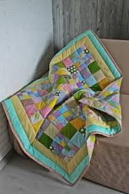 ship patchwork baby quilt baby girl