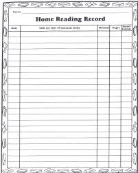 First Grade Reading Log Summer Reading Log Mrs Kozlowskis First Grade