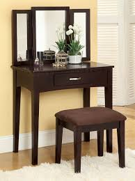 Amazon.com: Furniture Of America Doris 2 Piece Vanity And Stool Set,  Espresso: Kitchen U0026 Dining