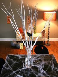 Quick and Easy Halloween Branch Centerpiece