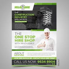 Create Business Flyer Business Flyer Design For Kelm Hire Pty Ltd By Sd