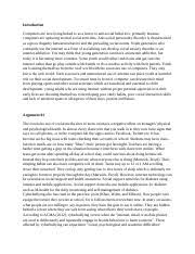 revised the internet is creating a generation of anti social youth 3 pages persuasive essay internet