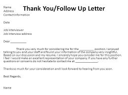 5 Thank You/Follow Up Letter