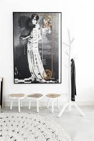 For Living Coat Rack HKLiving Coat Rack White Wood LIVING AND CO 32