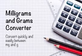 Mg To Grams Chart Milligrams And Grams Converter Mg To G