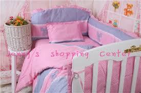 new fashion baby crib per sets baby girl crib bedding set pink soft baby bedding sets