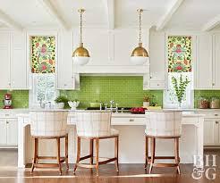 genius geometrics white and green kitchen