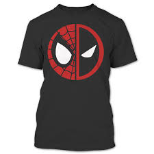 Spiderman And Deadpool LOGO The Amazing Spider-Man Superhero T Shirt ...