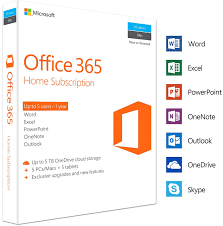 Microsoft Office 365 Home 5 Devices 1 Year Pc Mac Box