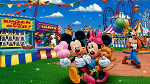 mickey and minnie in circus hd wallpaper