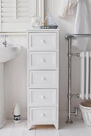 a 5 drawer tall narrow bathroom cabinet from the maine range of simple but classic storage drawers a12 drawers