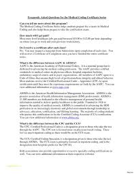 Medical Billing And Coding Resume With Cover Letter Medical Coder