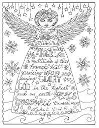 Kerst Engel Christelijke Kleurplaten Pagina Volwassen Etsy