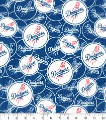 los angeles dodgers cotton fabric logo circles