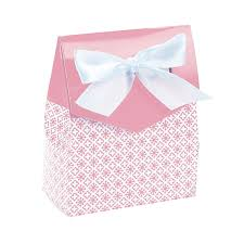 Light Pink Gift Bags Light Pink Also In Hot Pink Tent Favor Boxes With Bow