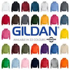 Details About Genuine Gildan Heavyweight Plain Hooded Sweatshirt Hoodie G18500 33 Colours