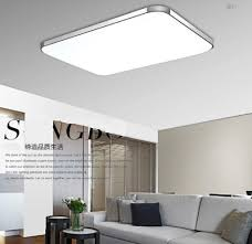 kitchen led light fixtures ceiling white colored rectangular shape alumunium side simple bright modern design minimalist