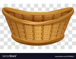 Large wicker basket Rectangular Pier Empty Wicker Basket For Flowers Large Birds Nest Vector Image
