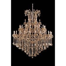 maria theresa chandelier in golden teak