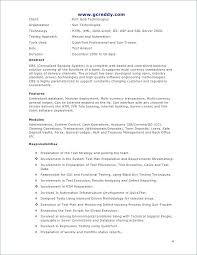 Sample Resume For Software Tester Fresher Elegant Manual Tester