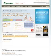 manulife financial website history