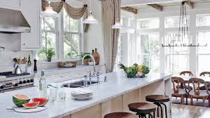 all white kitchen designs. Unique All The Weathered Look Of A Salvagedwood Ceiling Lends Laidback Vibe To In All White Kitchen Designs