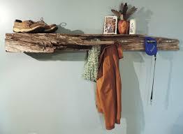 Rustic Driftwood Shelf / Coat rack by PhilRyanWoodworking ...