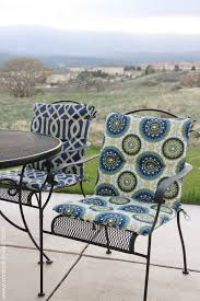 full size of patio garden yellow microfiber outdoor chair cushion pad with height back