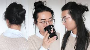 Long Man Hair Style easy man bun styles men long hairstyles youtube 3940 by wearticles.com