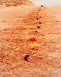 best keith arnatt images decay dog walking and  keith arnatt liverpool beach burial 1968