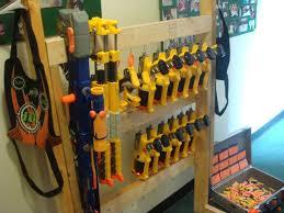 Nerf board made from a peg board nerf gun cabinet. Toy Gun Storage Ideas Novocom Top