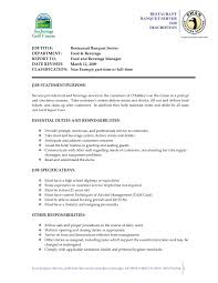 Server Job Description Resume Valid Restaurant Duties Resume