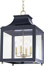 mitzi h259704l agb nvy leigh contemporary aged brass navy ceiling pendant light loading zoom