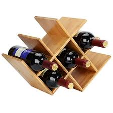 bamboo wine rack. Interesting Bamboo SortWise  Natural Bamboo Wine Rack 8Bottles Countertop Butterfly Shaped  Holder In 8