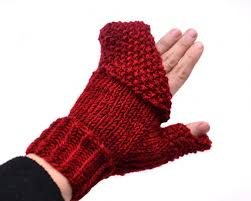 Mittens Pattern Classy Crimson ConvertiMitts Free Knitting Pattern Expression Fiber Arts