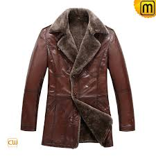 men s fur lined leather trench coats jackets cwmalls com