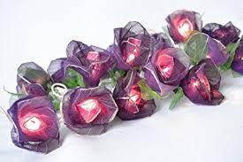 Purple Rose Flower Lights For Bedroom And Wedding String Lights Flower  Lights Indoor Patio (20