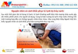 Nguyên nhân và cách khắc phục tủ lạnh bị chảy nước - Điện Máy Người Việt by  phamngoctien78 - issuu