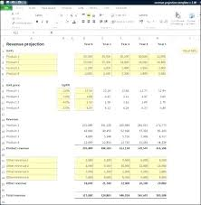 Sales Projection Format In Excel Sales Projection Template Excel Sales Forecast Template Sales