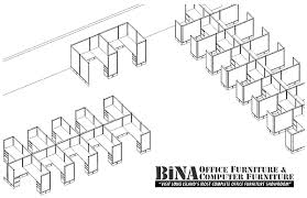 office furniture floor plan. bina office furniture, queens nyc cubicle floor plan | only then grand pacific 3d furniture o