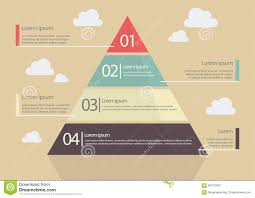 Investment Pyramid Chart Pyramid Chart Flat Style Infographic Stock Vector
