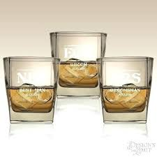 monogrammed whiskey glasses monogram glass personalized groomsmen accessories rocks crystal gla