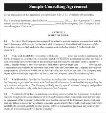 Consulting Agreement Template Industry Academic Consulting Agreement ...