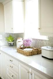 traditional white kitchen ideas. Quartz Kitchen Ideas With Pros And Cons Traditional White Grey Hexagon Tiles