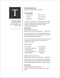 Free Resume Templates In Word Minimalist Resume Template Word Free
